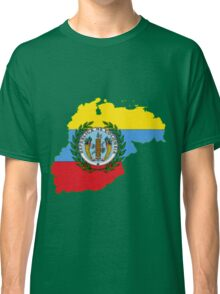 Colombia Map with Colombian Flag Classic T-Shirt
