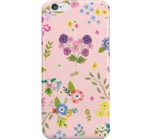 Garden Floral On Pastel Pink iPhone Case/Skin