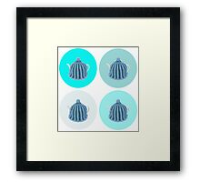 Blue pop art tea cosy Framed Print