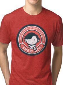Cute Sherlock Holmes in Red Tri-blend T-Shirt
