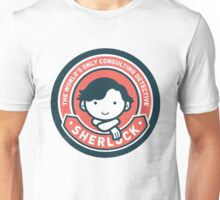 Cute Sherlock Holmes in Red Unisex T-Shirt
