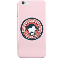 Cute Sherlock Holmes in Red iPhone Case/Skin