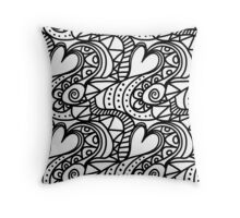Crazy heart Throw Pillow