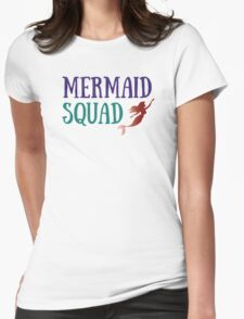 Mermaid Squad Womens Fitted T-Shirt