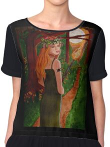 Come To The Beltane Fire - Witch Art Chiffon Top