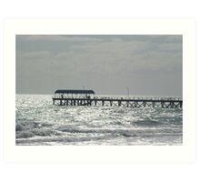 Silver lights at Henley Beach Art Print