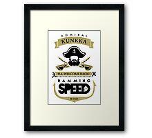 Admiral Kunkka Dota 2 Framed Print