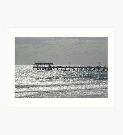 Silver lights at Henley Beach Jetty Art Print