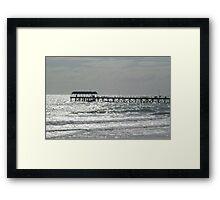 Silver lights at Henley Beach Jetty Framed Print