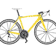 Typographic Anatomy of a Tour de France Bike by jarodface