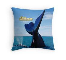 Right Whale with her calf Throw Pillow