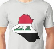 Iraq Map with Iraqi Flag Unisex T-Shirt