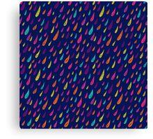 Coloured rain. Canvas Print