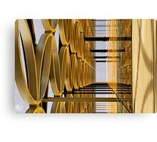 Golden Hoops Canvas Print