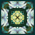 Ginger flower quad 3 by maria paterson