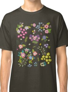 Garden Floral On White Classic T-Shirt