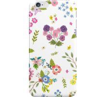 Garden Floral On White iPhone Case/Skin