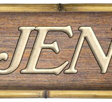 Djent Wood Sign Sticker