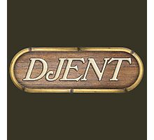 Djent Wood Sign Photographic Print