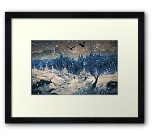 Snow Forest Framed Print