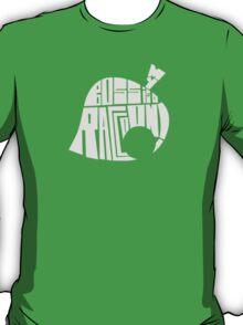 t-shirt animal crossing leaf Tom Nook My boss is a raccoon ! T-Shirt