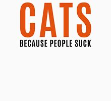 Cats, Because People Suck Funny Quote Womens Fitted T-Shirt