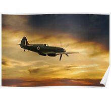 Spitfire PS915 Sunset Poster