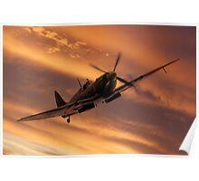 Spitfire Sunset Pass Poster