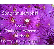 Pretty in Pink Top Ten Challenge Banner Photographic Print