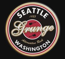 Grunge Seattle Washington Kids Tee