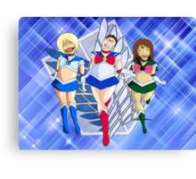 Shingeki No Sailor Scouts Canvas Print