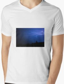 Lightning Mens V-Neck T-Shirt