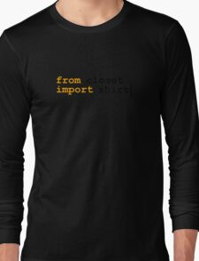 from python import witty shirt Long Sleeve T-Shirt