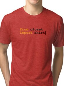from python import witty shirt Tri-blend T-Shirt