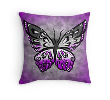 Asexual Butterfly Throw Pillow
