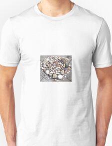 Pretty Stone and Shell Circle 2 Unisex T-Shirt