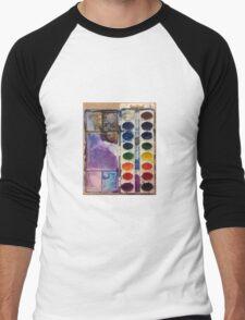 water color pallet  Men's Baseball ¾ T-Shirt