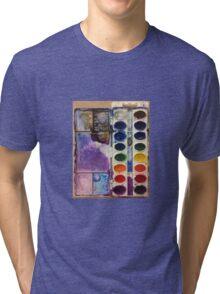 water color pallet  Tri-blend T-Shirt