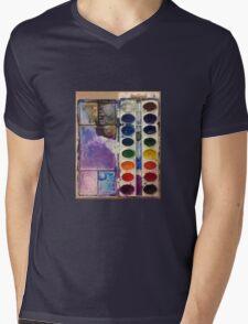 water color pallet  Mens V-Neck T-Shirt