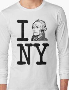 I HAMILTON NEW YORK Alexander Hamilton Greatest City in the World Aaron Burr  Long Sleeve T-Shirt