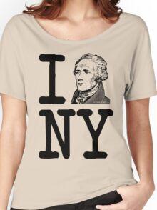 I HAMILTON NEW YORK Alexander Hamilton Greatest City in the World Aaron Burr  Women's Relaxed Fit T-Shirt