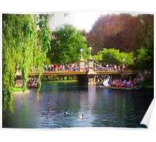 Boston Public Gardens and Swan Boats Poster