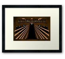 Doctor Who Dalek Exterminate Framed Print