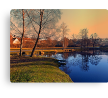 Winter mood on the river IV | waterscape photography Canvas Print