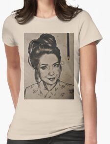 Zoella portrait Womens Fitted T-Shirt