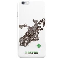 Boston Clover Neighborhoods Map iPhone Case/Skin