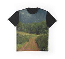 Hazy Moon Meadow Graphic T-Shirt