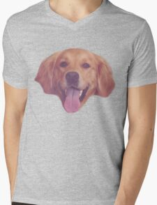 Vintage Doggy Mens V-Neck T-Shirt