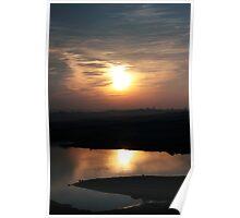 Sunset at Lake Folsom Poster