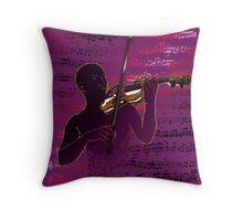 Violinist Score Throw Pillow